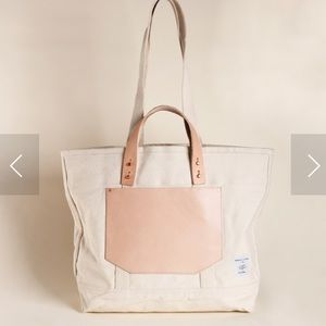 NWT Anthropologie Immodest Cotton Tote Bag